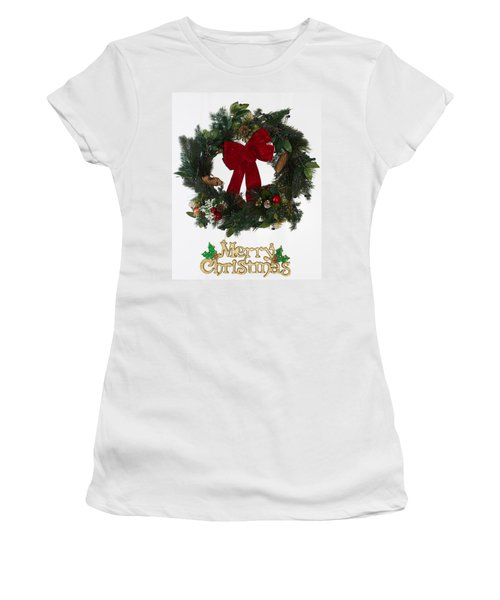 Merry Christmas Women's T-Shirt (Junior Cut) by Kenneth Cole
