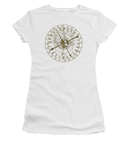 Metal Astronomical Clock Women's T-Shirt (Athletic Fit)