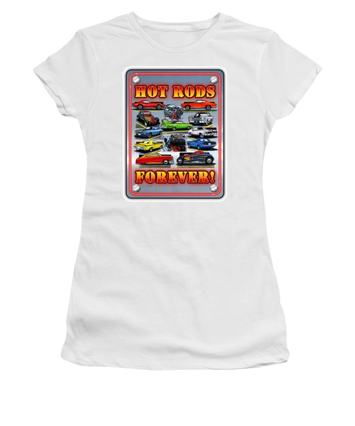 Metal Hot Rods Forever Women's T-Shirt (Athletic Fit)