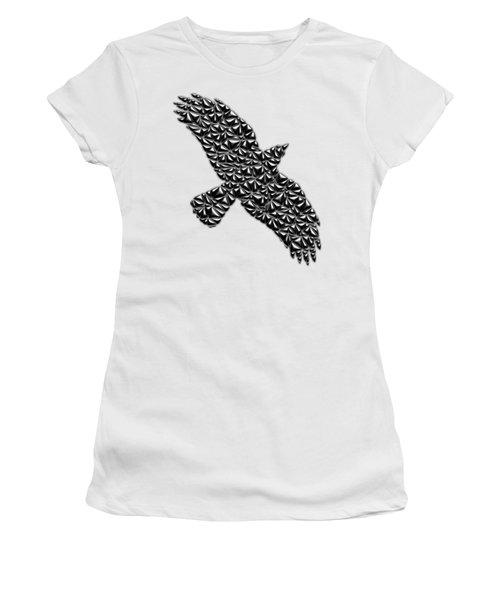Metallic Crow Women's T-Shirt (Junior Cut) by Chris Butler