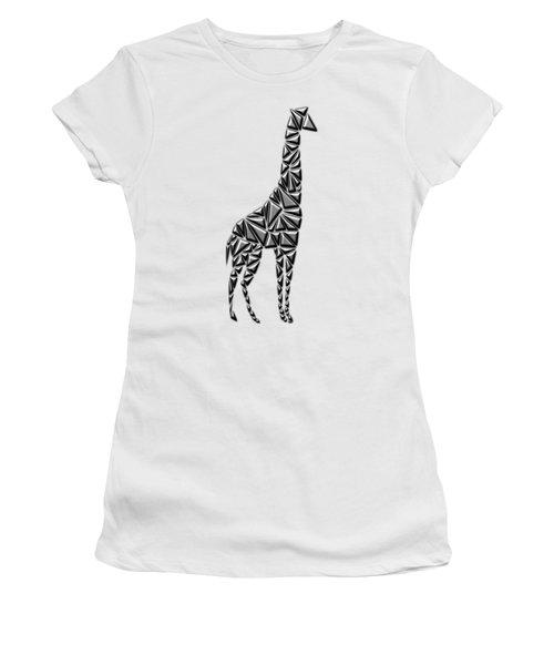 Metallic Giraffe Women's T-Shirt (Junior Cut) by Chris Butler