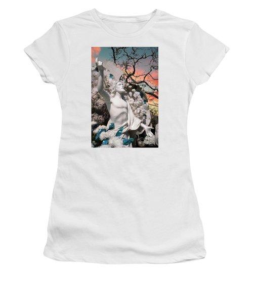 Mexico Cemetery Sculpture Photograph - Resurrection T Dawn Women's T-Shirt (Athletic Fit)