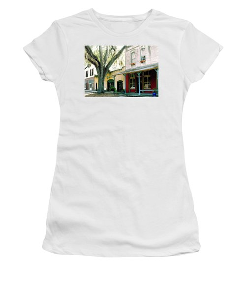Micanopy Storefronts Women's T-Shirt (Athletic Fit)
