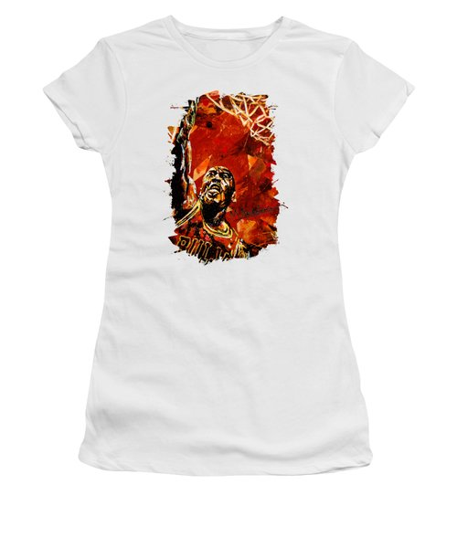 Michael Jordan Women's T-Shirt (Junior Cut) by Maria Arango