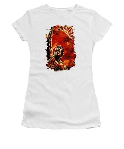 Michael Jordan Women's T-Shirt (Junior Cut) by Maria Arango