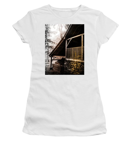Women's T-Shirt (Junior Cut) featuring the photograph Michie Tavern No. 5 by Laura DAddona