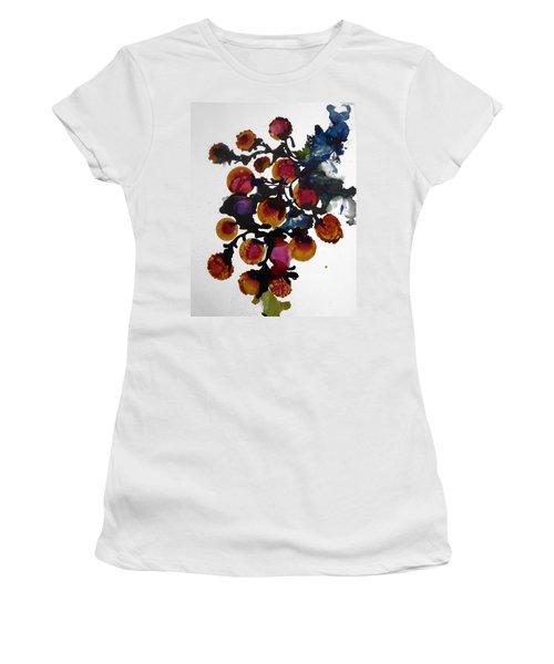 Midnight Magiic Bloom-1 Women's T-Shirt (Junior Cut) by Alika Kumar