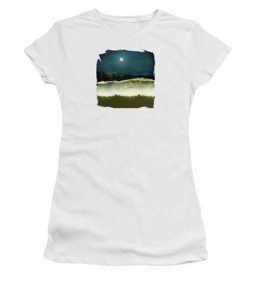 Midnight Moonlight Women's T-Shirt (Athletic Fit)