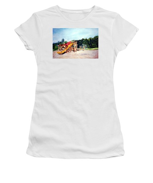 Mildred Goes Down The Slide Women's T-Shirt (Athletic Fit)