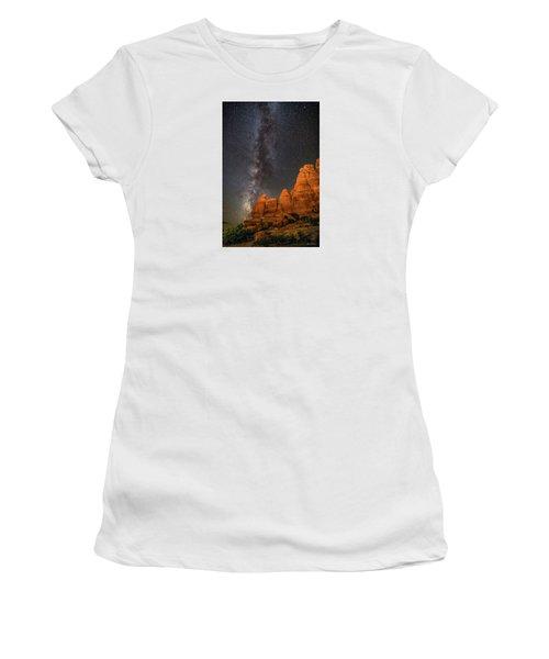 Milky Way And Navajo Rocks Women's T-Shirt