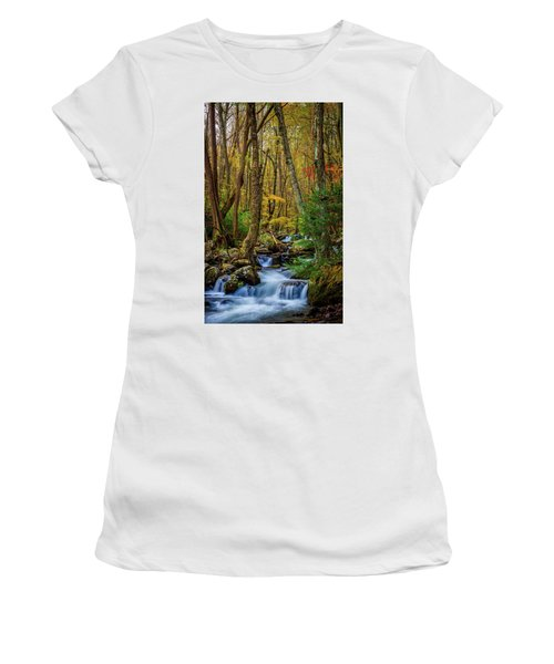 Mill Creek In Fall #1 Women's T-Shirt (Athletic Fit)