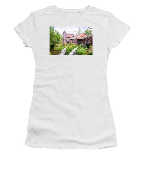 Mill Water Falls Hdr Women's T-Shirt (Athletic Fit)