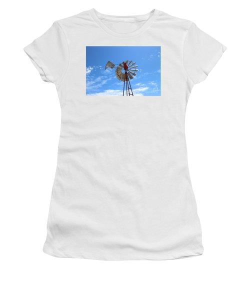 Women's T-Shirt (Junior Cut) featuring the photograph Milled Wind by Stephen Mitchell