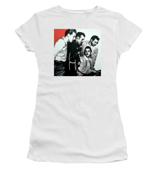 Million Dollar Quartet Women's T-Shirt (Athletic Fit)