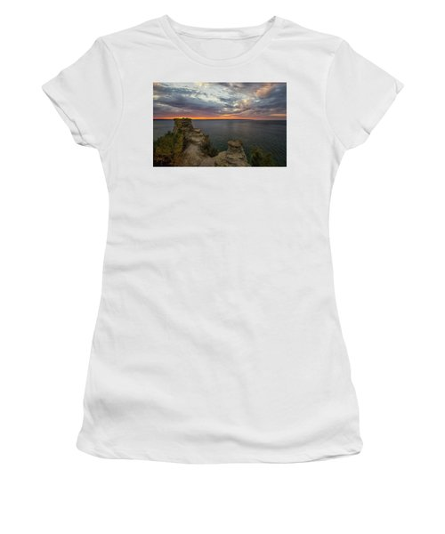 Women's T-Shirt featuring the photograph Miners Castle 3 by Heather Kenward