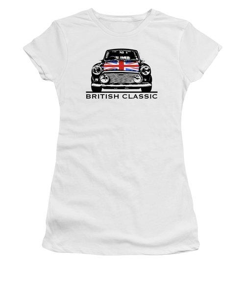 Mini British Classic Women's T-Shirt (Junior Cut) by Thomas M Pikolin