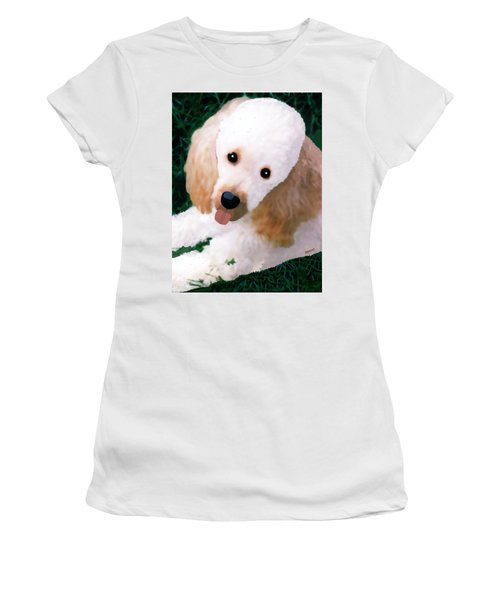 Miniature Poodle Albie Women's T-Shirt (Athletic Fit)