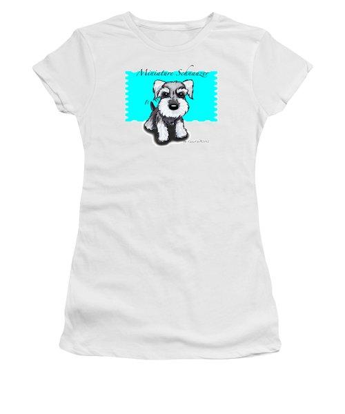 Miniature Schnauzer Women's T-Shirt (Junior Cut) by Catia Cho