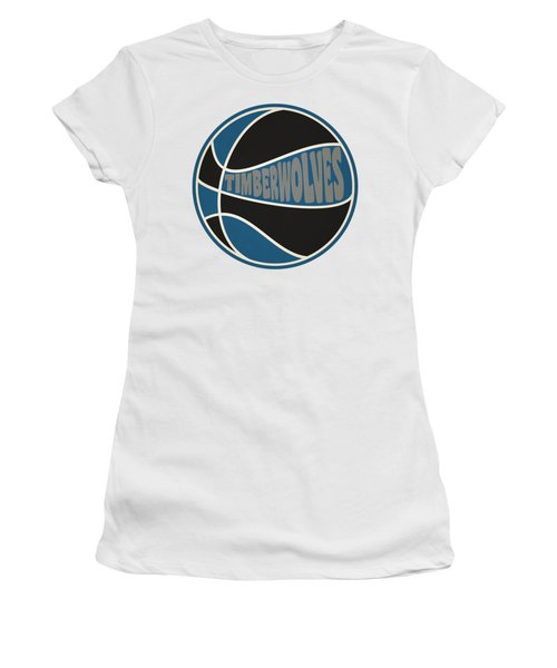Women's T-Shirt (Junior Cut) featuring the photograph Minnesota Timberwolves Retro Shirt by Joe Hamilton
