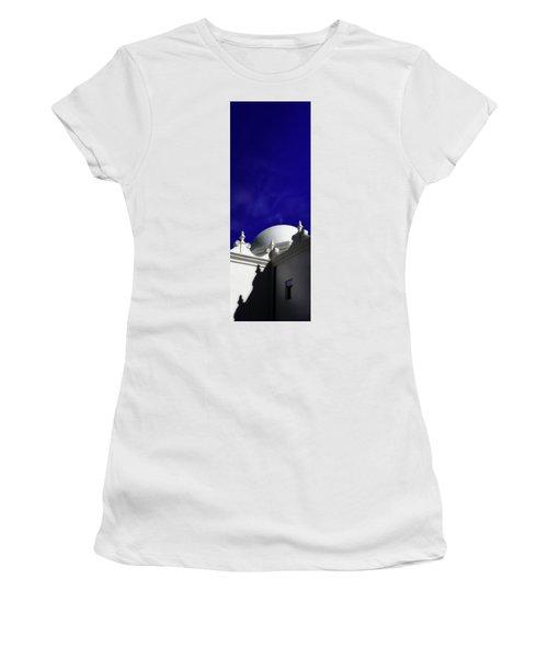 Mission San Xavier Del Bac Women's T-Shirt (Junior Cut) by Gary Warnimont