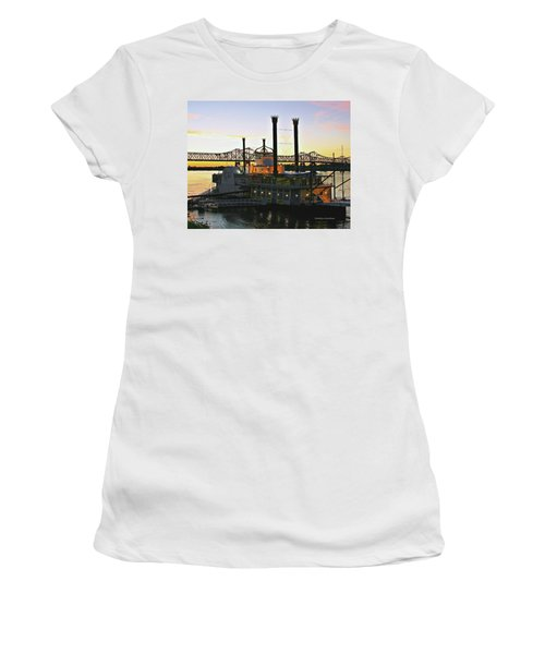 Mississippi Riverboat Sunset Women's T-Shirt