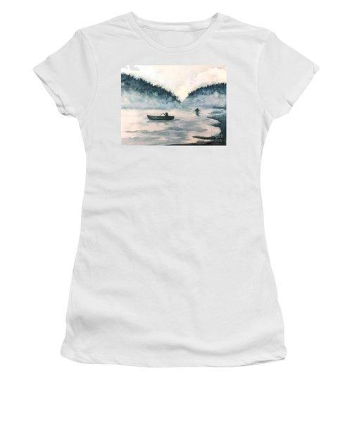 Misty Lake Women's T-Shirt (Athletic Fit)