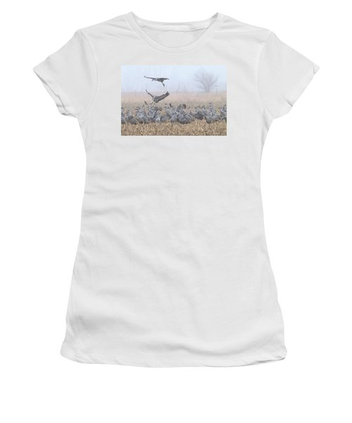 Misty Morning Nebraska Landing Women's T-Shirt