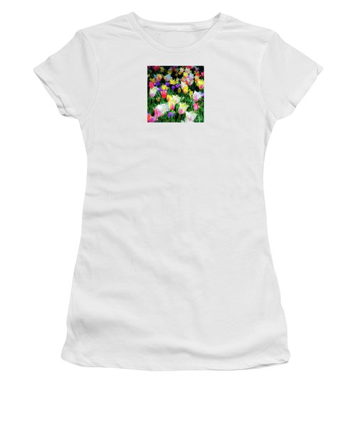 Mixed Tulips In Bloom  Women's T-Shirt