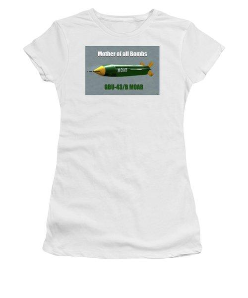 Women's T-Shirt (Junior Cut) featuring the painting Moab Gbu-43/b by David Lee Thompson