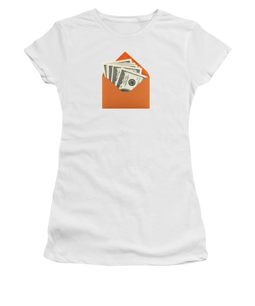 Money In An Orange Envelope Women's T-Shirt (Athletic Fit)
