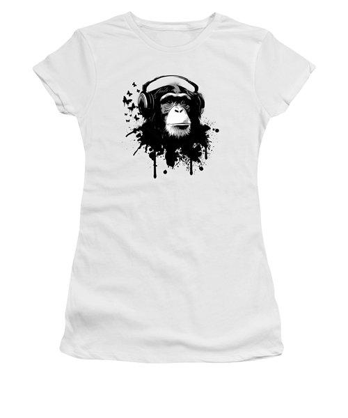 Monkey Business Women's T-Shirt (Junior Cut) by Nicklas Gustafsson