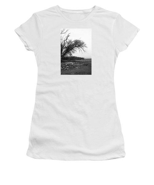 #monochrome #lake #landscape  #stausee Women's T-Shirt