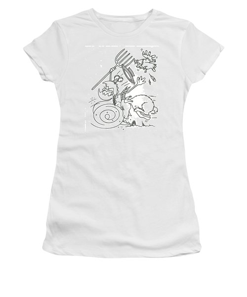 Monster Getting Chased Women's T-Shirt