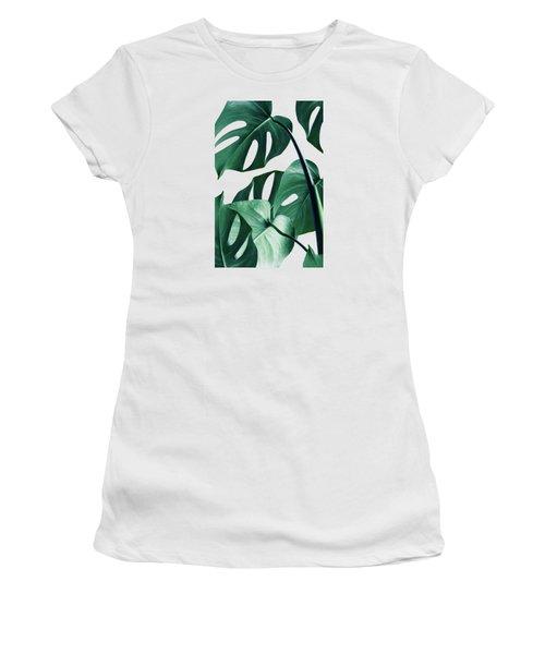Monstera Women's T-Shirt (Junior Cut) by Uma Gokhale