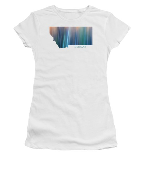 Montana In Pastel Women's T-Shirt (Athletic Fit)