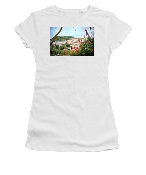Monte Brasil And Angra Do Heroismo, Terceira Women's T-Shirt (Junior Cut) by Kelly Hazel