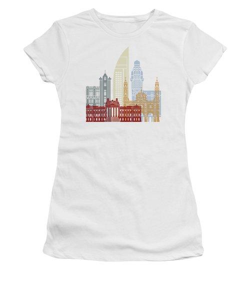 Montevideo Skyline Poster Women's T-Shirt
