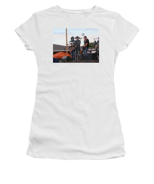 Women's T-Shirt (Athletic Fit) featuring the photograph Montgomery Gentry by Aaron Martens
