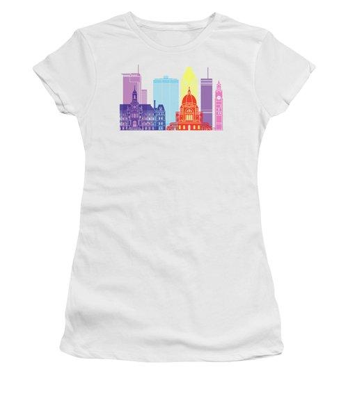 Montreal_v2 Skyline Pop Women's T-Shirt