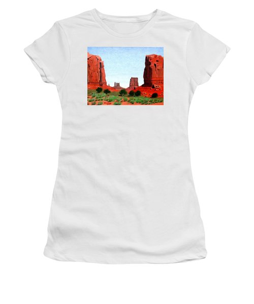 Monument Valley North Window Women's T-Shirt (Junior Cut) by Mike Robles