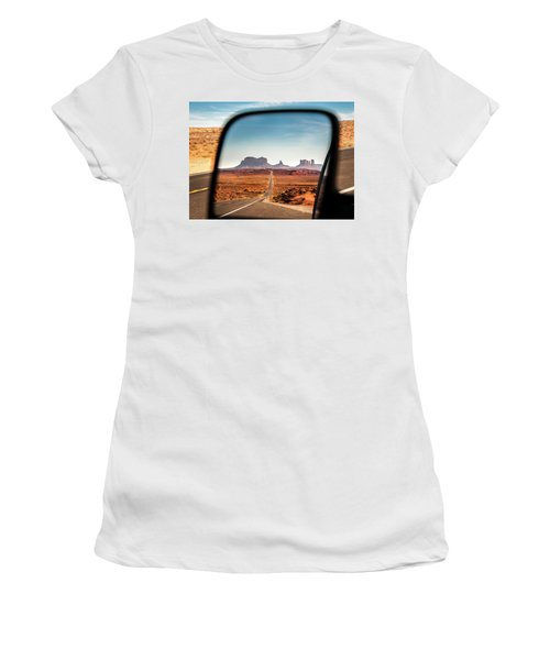 Monument Valley Rearview Mirror Women's T-Shirt (Athletic Fit)