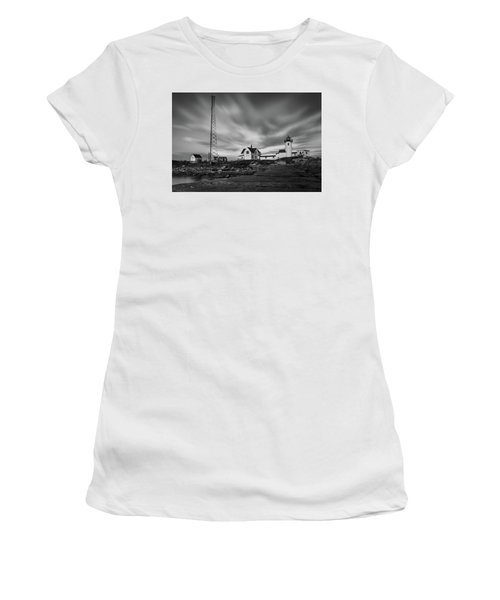 Moody Sky At Eastern Point Lighthouse Women's T-Shirt