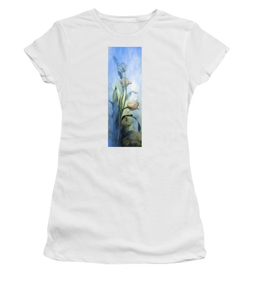 Women's T-Shirt (Athletic Fit) featuring the painting Moody Tulips by Hanne Lore Koehler