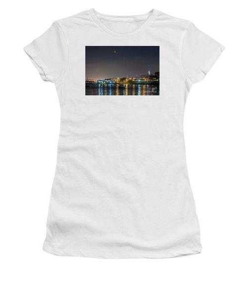 Moon Over Aquatic Park Women's T-Shirt