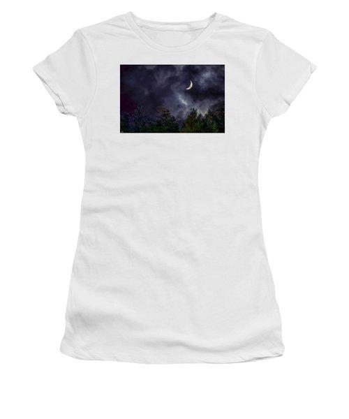 Moon Shine Over The Okanagan Women's T-Shirt