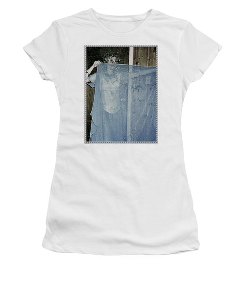 Women's T-Shirt (Athletic Fit) featuring the photograph More Peek-a-boo by Denise Fulmer