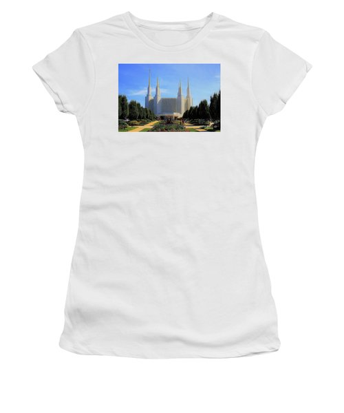 Mormon Temple Dc Women's T-Shirt (Athletic Fit)