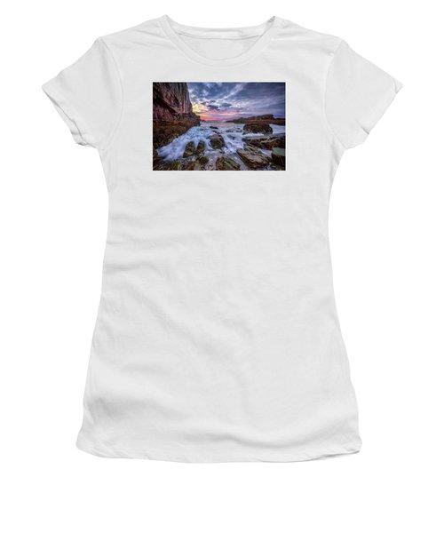 Morning At Bald Head Cliff Women's T-Shirt (Junior Cut) by Rick Berk
