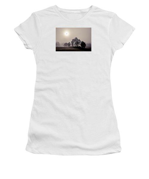 Women's T-Shirt (Junior Cut) featuring the photograph Morning Calm by Annette Berglund
