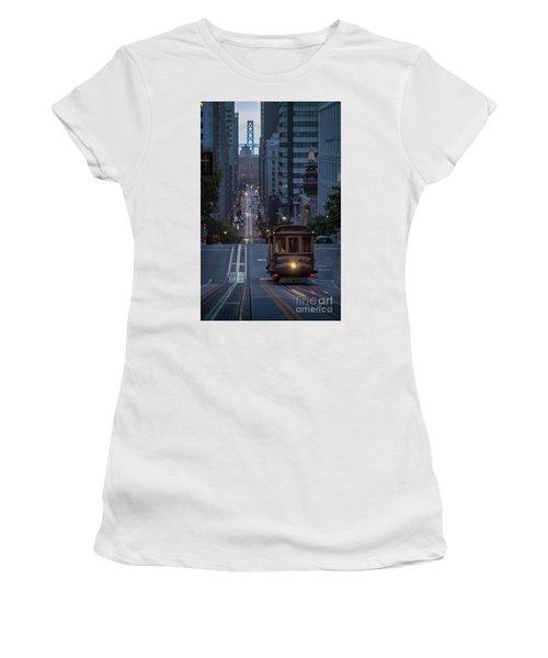 Morning Commute Women's T-Shirt (Junior Cut) by JR Photography